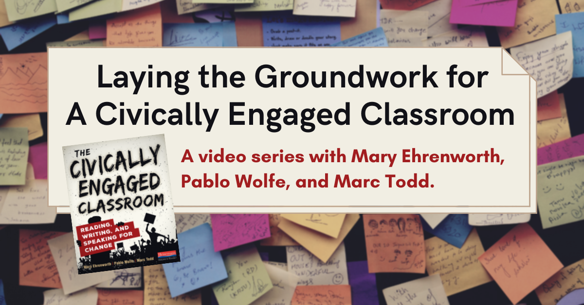 Civically Engaged Groundwork Video Series Blog