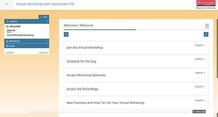 General Virtual Workshop Screengrab