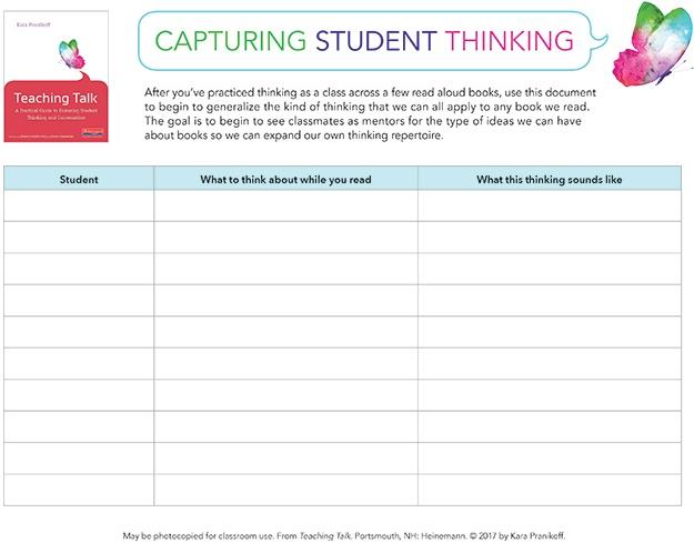 Teaching Talk Capturing Student Thinking-1