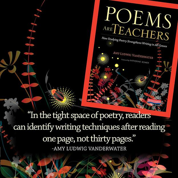 """""""In the tight space of poetry, readers can identify writing techniques after reading one page, not thirty pages."""""""