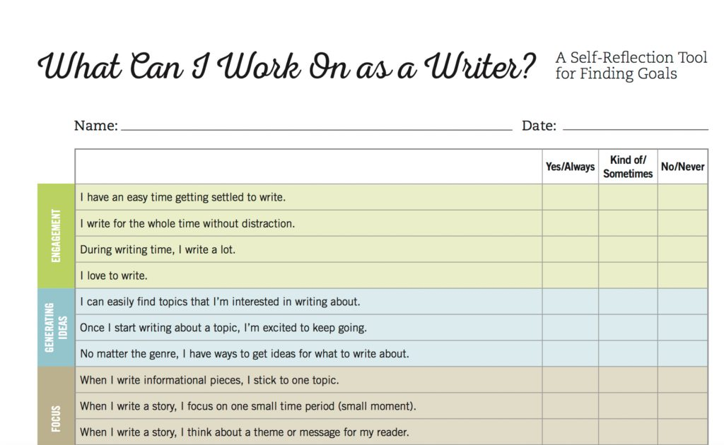 what can I work on as a writer?