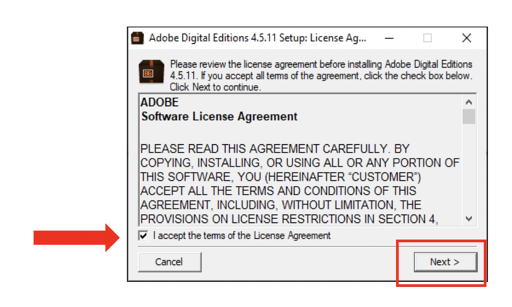 Adobe Digital Editions instructions 01
